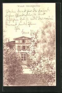 AK Lausanne, Weg zur Villa Georgette