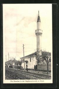 AK Nisch, Blick in die Mackensenstrasse zur Moschee