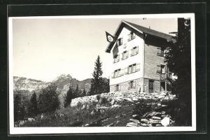 Foto-AK Amden, Naturfreundehaus Tscherwald