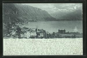 Mondschein-AK Montreux, Teilansicht