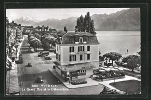 AK Montreux, La Grand Rue et le Debarcadere