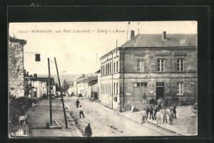 AK Sivry a.d. Maas, Kaiser-Wilhelmstr. mit Feld-Lazarett