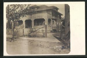 Foto-AK San Mateo, CA, Ansicht von Wohnhaus