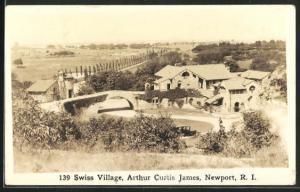 Foto-AK Newport, RI, 139 Swiss Village, Arthur Curtis James