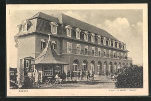 AK Zossen, Hotel Deutscher Kaiser mit Kiosk