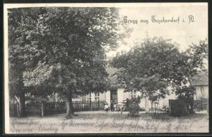 AK Teschendorf I. M., Motiv von Gasthaus Bergemann