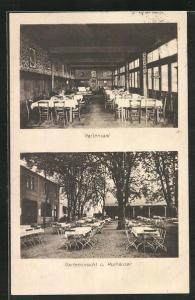 AK Traisa, Hotel und Pension Behrens-Hufnagel, zwei Motive