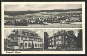 AK Storndorf /Hessen, Totale und Gebäude im Ort