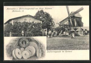 AK Zschornegosda, Mahlmühle u. Mühlenbaugeschäft von Herm. Hofmann, Mühlenstr. 73