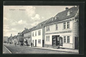 AK Usingen, Obergasse, Photogr. Atelier Aug. Weininger, Ansichtskartenverkauf
