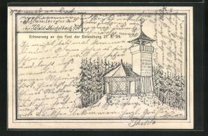 AK Wald-Michelbach i. O., Schimmelbergturm, Einweihung 1909