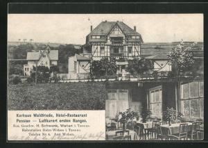 AK Wehen, Kurhaus Waldfriede, Hotel-Restaurant, zwei Ansichten