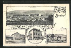 AK Sontra, Bahnhof, Gipsfabrik, Amtsgericht