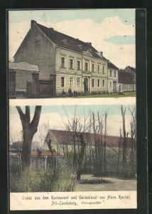 AK Alt-Landsberg, Restaurant und Gartenlocal von Hans Rauter, Mehrfachansicht