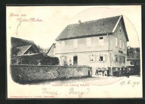 AK Nieder-Modau, Gasthaus von Ludwig Schaller