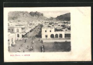 AK Aden, Arab. Town, Strassenleben
