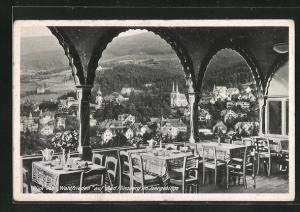 AK Bad Flinsberg, Gasthaus Waldfrieden, Blick auf den Ort