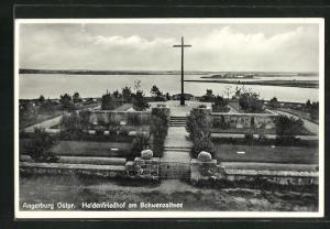 AK Angerburg, Heldenfriedhof am Schwenzaitsee