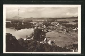 AK Thammühl am See, Panoramablick auf das Dorf