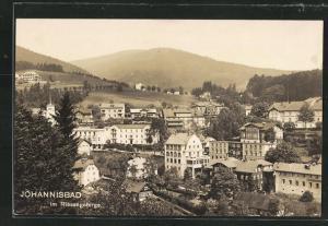 AK Johannisbad / Janske Lazne, Teilansicht der Ortschaft