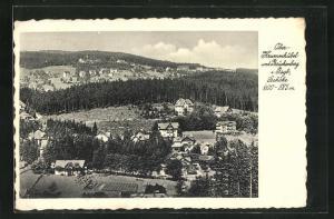 AK Ober-Krummhübel, Teilansicht mit Blick nach Brückenberg