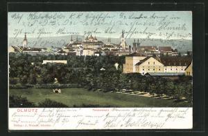AK Olmütz, Teilansicht der Stadt