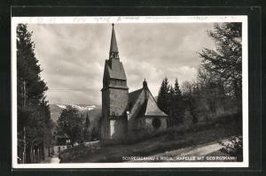 AK Schreiberhau, Kapelle mit Gebirgskamm