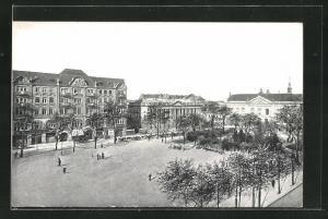 AK Posen / Poznan, Blick über den Wilhelmsplatz
