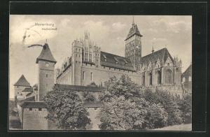 AK Marienburg / Malbork, Partie am Hochschloss