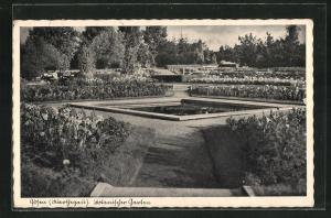 AK Posen / Poznan, Partie im Botanischen Garten