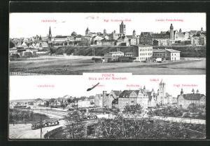 AK Posen / Poznan, Pauluskirche, Schlosskirche, Schloss, Strassenbahn