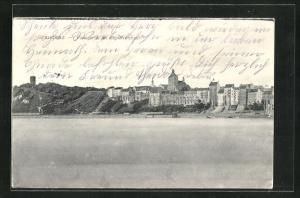 AK Graudenz / Grudziadz, Panorama an der Weichsel