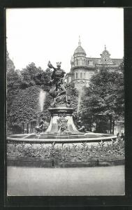 AK Posen / Poznan, Königsplatz mit Perseusbrunnen