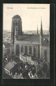 AK Danzig / Gdansk, Ober-Pfarrkirche zu St. Marien
