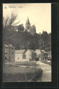 AK Limbourg, L`Eglise, Strassenpartie mit Blick zur Kirche