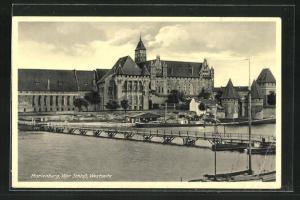 AK Marienburg / Malbork, Schloss von der Westseite