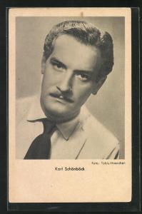 AK Schauspieler Karl Schönböck ernst blickend