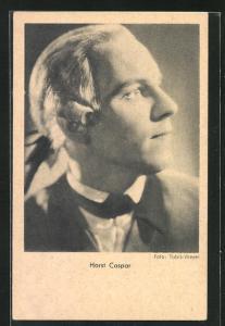 AK Schauspieler Horst Caspar zur Seite blickend