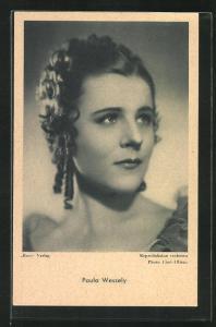 AK Schauspielerin Paula Wessley im Seitenprofil