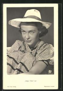 AK Schauspielerin Ilse Werner mit Hut