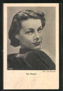 AK Schauspielerin Ilse Werner im Seitenprofil