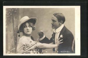 AK Schauspielerin Edna May & Schauspieler G.P. Huntley