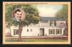 AK Schauspieler Clark Gable, Home Brentwood Highlands