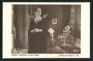 AK Schauspielerin Henny Porten in Faust des Riesen