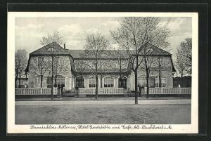 AK Alt-Buchhorst i. M., Strandschloss Möllensee, Hotel-Gaststätte und Café