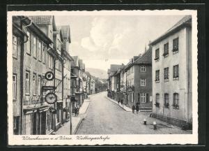 AK Witzenhausen a. d. Werra, Partie in der Walburgerstrasse