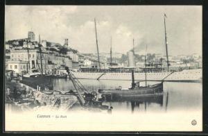 AK Cannes, Le Port, Hafen