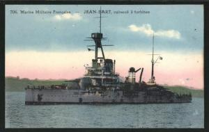 AK Cuirassé à turbines Jean-Bart, Französisches Kriegsschiff Jean-Bart