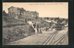 AK Plateau du Mont Revard, La Gare et les Chalets-Hotels