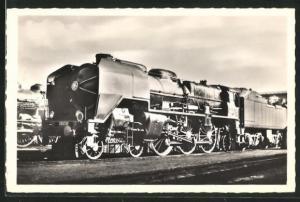 AK Französische Eisenbahn-Lokomotive No. 231 C 50, S.N.C.F.
